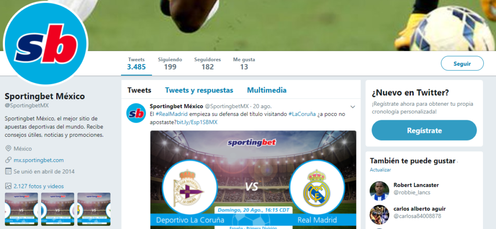 Sportingbet Twitter