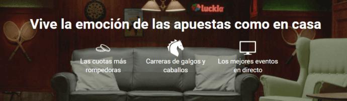 Apostar desde casa con Luckia App