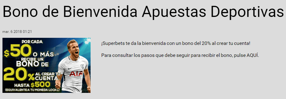 Código Promocional SuperBets