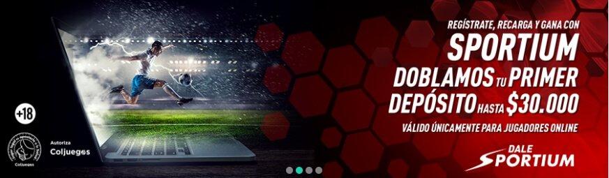 Sportium Colombia código del bono