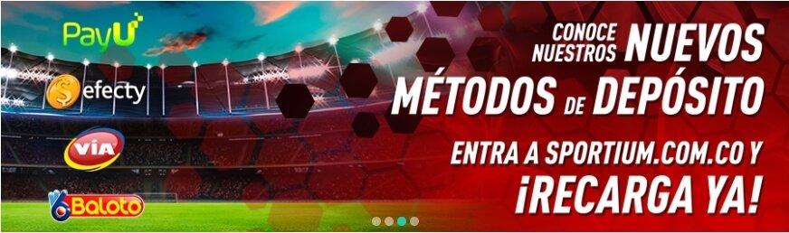 Sportium Apuestas Deportivas métodos de depósito