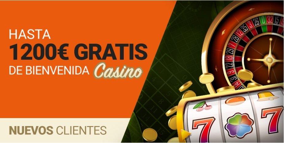 bienvenida de hasta 1200€ en Casino