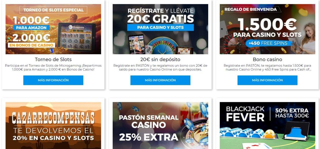 pastón casino promociones