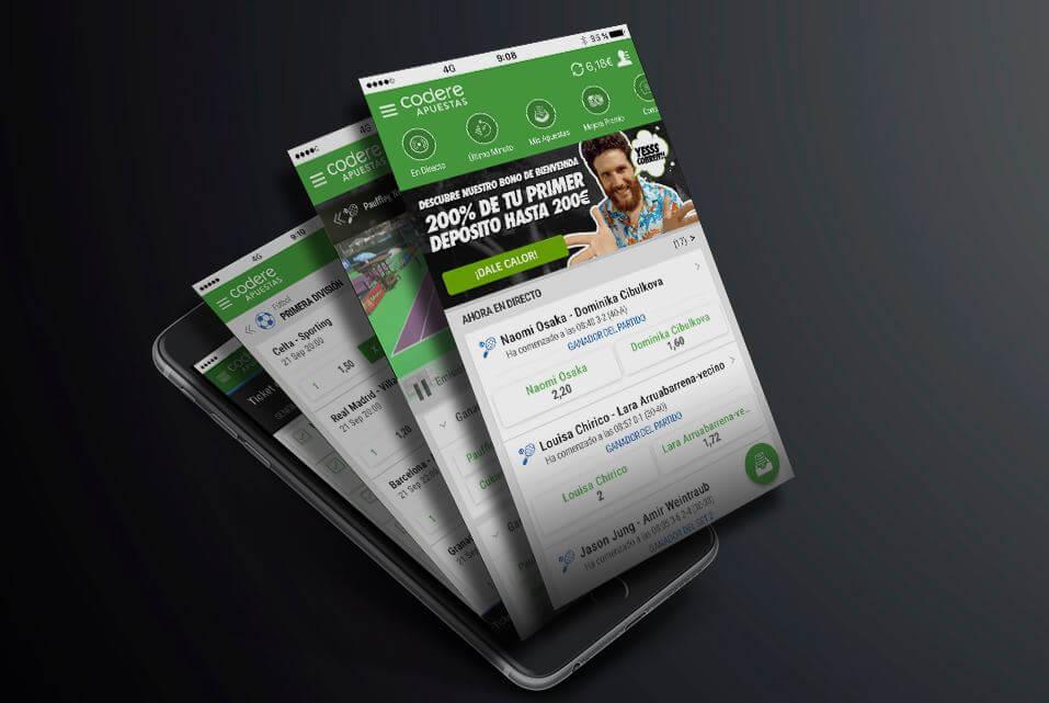 codere aplicación móvil