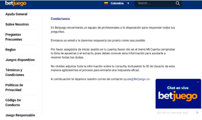 Betjuego Contacto