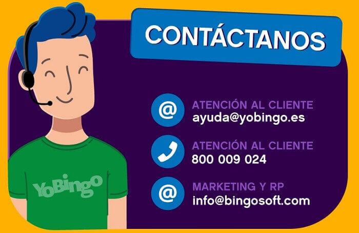 Contacto con YoBingo