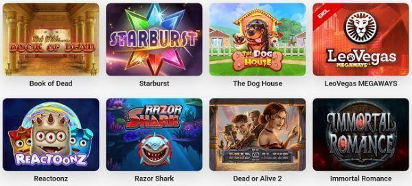LeoVegas Casino Oferta de Juegos