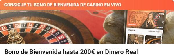 LeoVegas Casino en Vivo Bono de Bienvenida
