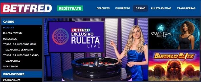 Betfred Oferta de Casino