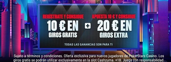 Bono de Bienvenida Casino PokerStars